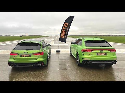 DRAG RACE! AUDI RS6 AVANT VS RSQ8!
