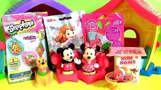 A Casa do Mickey e Minnie Mouse com Surpresas NUM NOMS Shopkins My Little Pony Sofia em Portugues BR