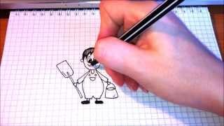Простые рисунки #72 Садовник