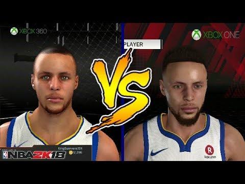 NBA 2K18 XBOX 360 VS XBOX ONE FACE COMPARISON   PS3 VS PS4