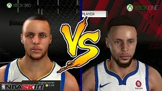 NBA 2K18 XBOX 360 VS XBOX ONE FACE COMPARISON | PS3 VS PS4 FACE COMPARISON
