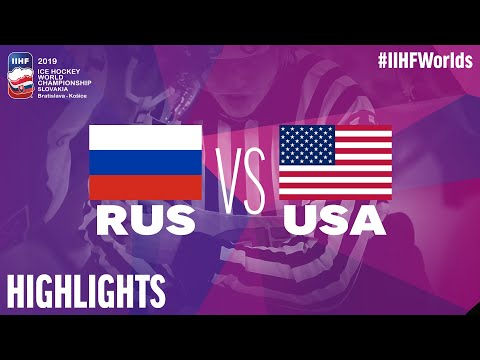Russia Vs. USA - Quarter-final - Game Highlights - #IIHFWorlds 2019