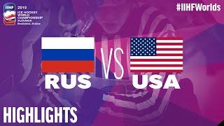 Russia vs. USA - Quarter-final - Game Highlights - #IIHFWorlds 2019