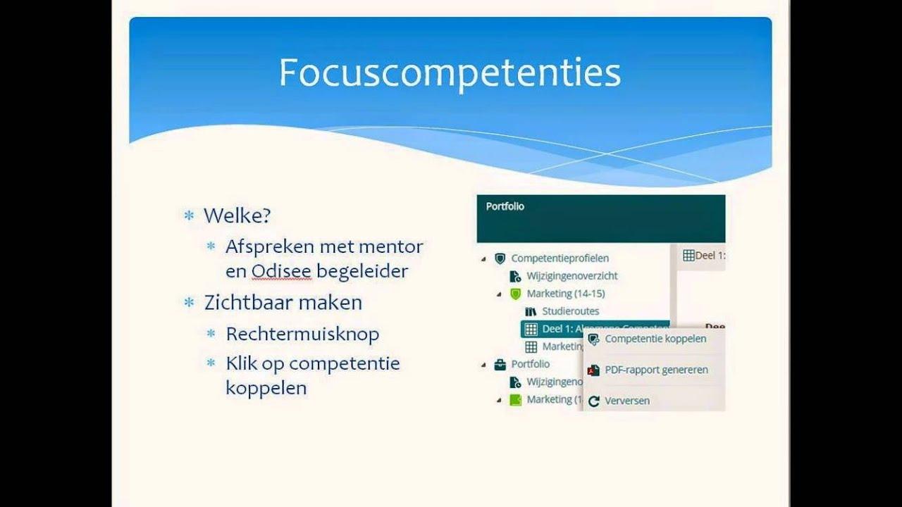 digitaal portfolio: focuscompetenties zichtbaar maken