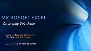 Microsoft Excel - Calculating Your Debt Ratio (Budgeting)