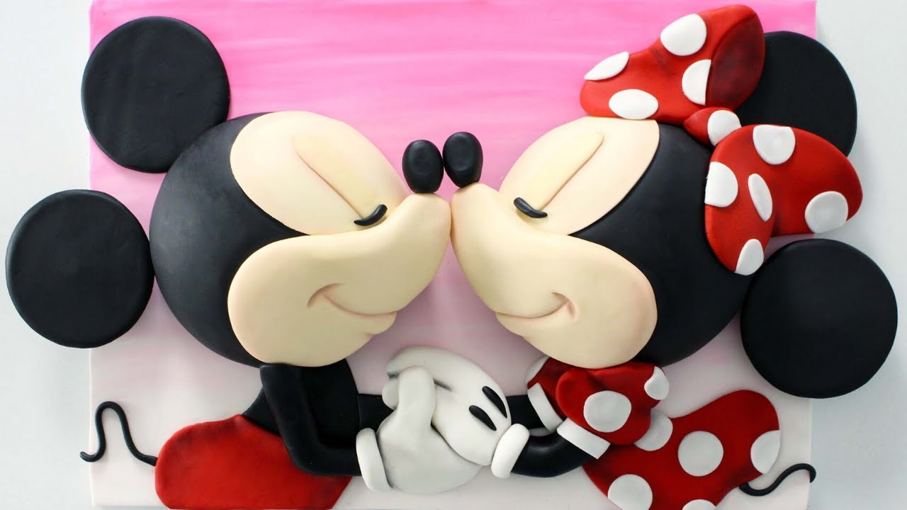 Mickey And Minnie Mouse Cake Tutorial Disney Cakes Valentine S Cakes Youtube