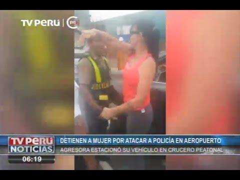 Mujer fue detenida por agredir a policía en aeropuerto
