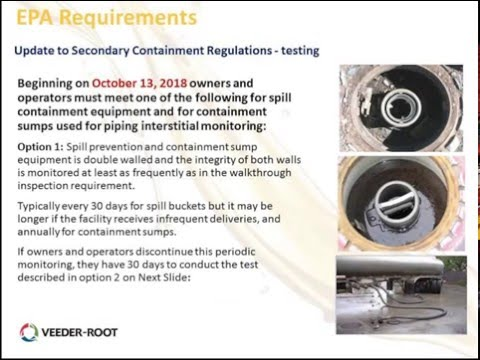 Webinar Replay: Changes to Secondary Containment and Overfill Device Regulations