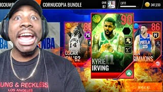 90 OVR MAZE MASTER KYRIE IRVING IN CORNUCOPIA PACK OPENING! NBA Live Mobile 18 Gameplay Ep. 15