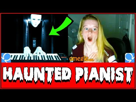 SPOOKY Ghost Plays Piano On Omegle Prank!! Reactions