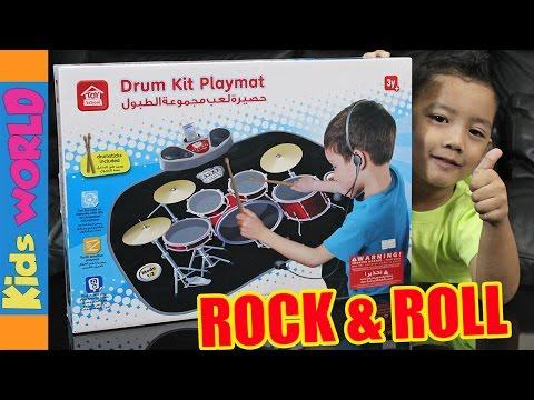 Drum Kit Playmat Toy Unboxing | Toy School