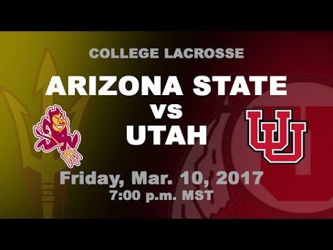 Utah vs Arizona State Men's Lacrosse | MCLA D1 LIVE