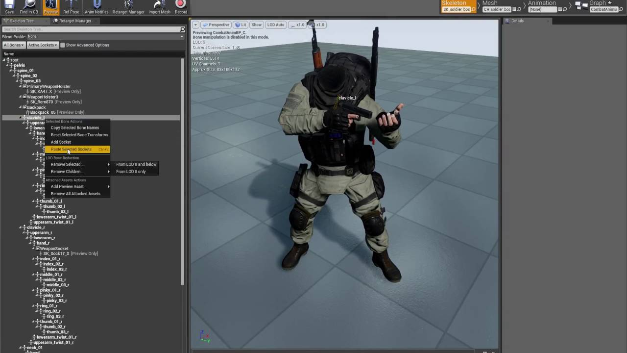 Unreal Engine 4 Rifle Ainmset Pro with Modern Solider Camo Pack Character!