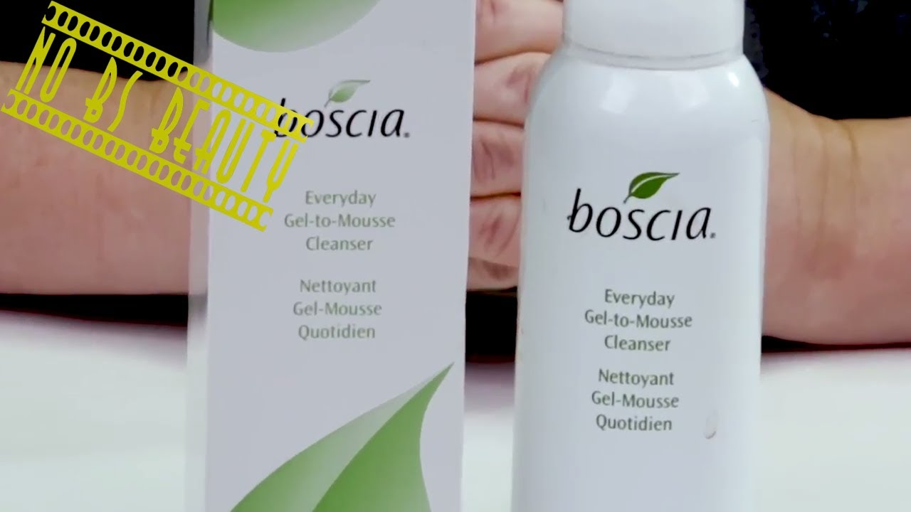 Boscia Skincare Everyday Gel To Mousse Facial Cleanser Review Youtube