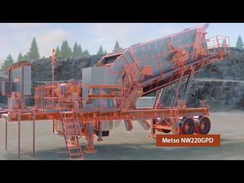 Передвижная дробильно-сортировочная установка Metso серии NW