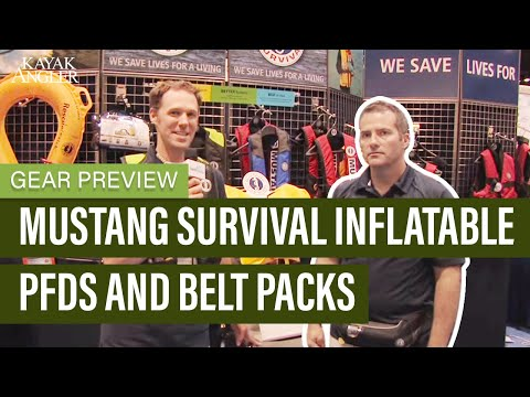 Mustang Survival Inflatable PFDs And Belt Packs | Inflatable Life Jackets | Gear Preview