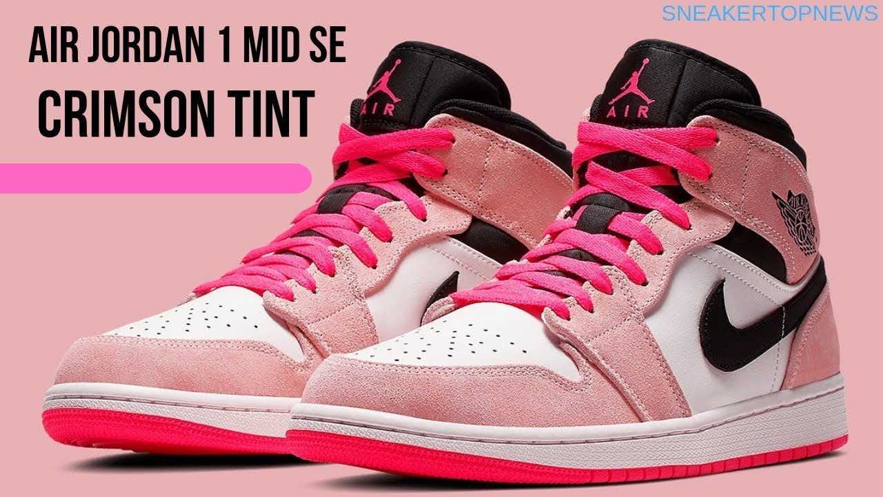 "3ccfa23a7c4d47 The Air Jordan 1 Mid ""Crimson Tint"" Is Coming Soon - YouTube"
