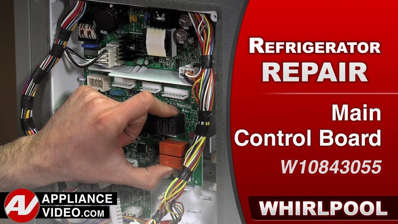 Whirlpool Maytag Kitchenaid Main Circuit Control Board Wiring Refrigerator Diagnostic Repair