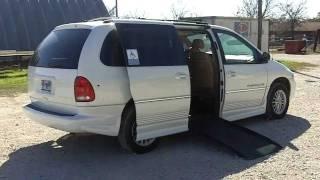 2000 Chrysler Town & Country Ramp Van w/Full Driver Controls