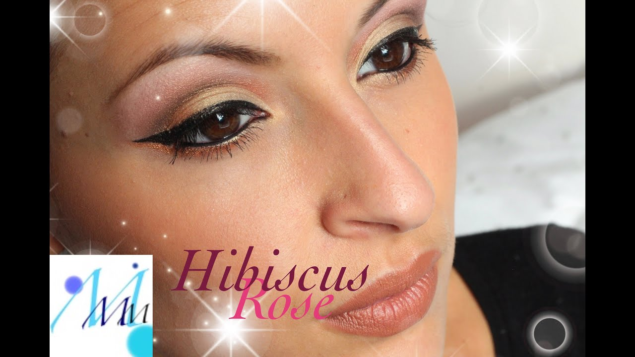 Maquillage Peaux Fonc Es Hibiscus Rose Youtube