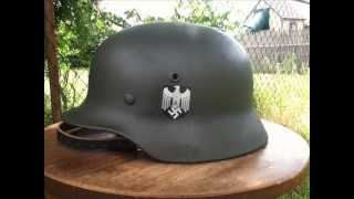 My Restored Original WWII German M40 Q66 Single Decal Heer (Army) Stahlhelm