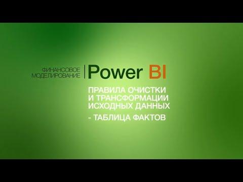 Правила очистки и трансформации исходных данных в Power BI. Таблица фактов.