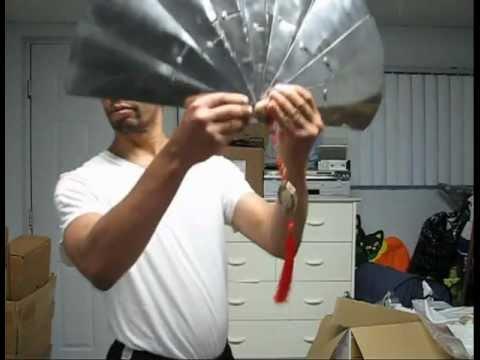 Decorative Kung Fu Steel Fan Fabrication -- 1/5  :  Layout and Cutting