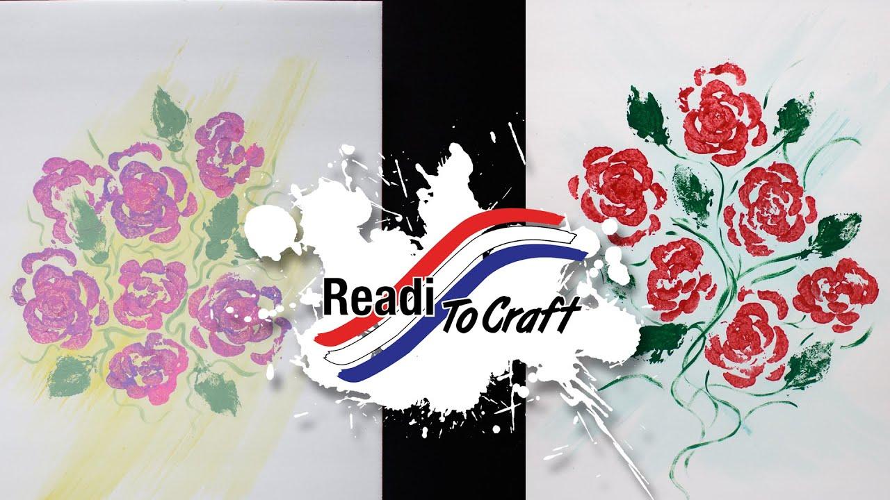 Readi to Craft: Rose Stamping