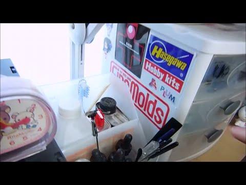 My plastic model workbench / hobby room tour update