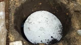 видео Сливная яма своими руками: конструкция, как построить из колец в частном доме