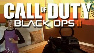 Repeat youtube video Black Ops 2 - Fun Times with a Girl!  (Creepy Sidearms is Creepy!)