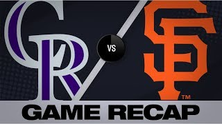 Blackmon homers in Rockies' 16-inning win | Rockies-Giants Game Highlights 9/24/19