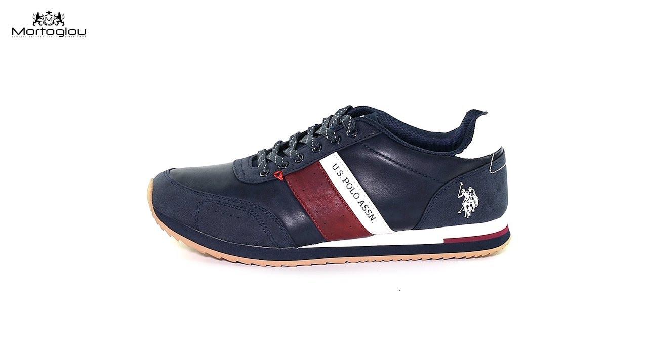 fe364ed8d27 Ανδρικά Παπούτσια Casual U.S Polo Assn Vance Dark Blue Leather - YouTube