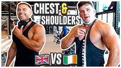 An Englishman & An Irishman Walk Into A Gym... | Full Chest & Shoulder Workout