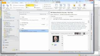 Using the Social Media Connector in Outlook 2010