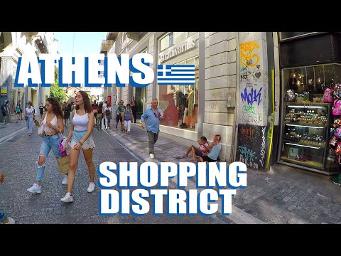 Athens Shopping Along The Famous Ermou Street