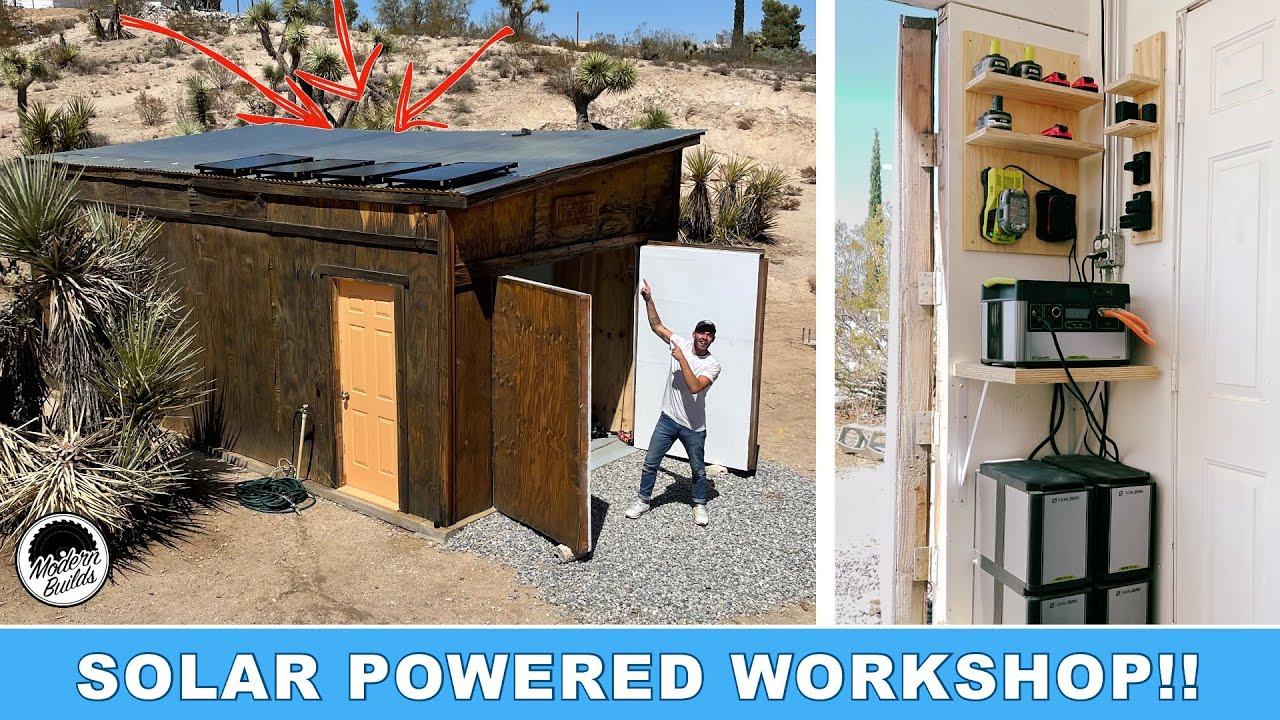 DIY SOLAR POWERED WORKSHOP | MODERN BUILDS x GOAL ZERO