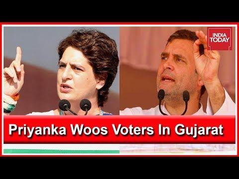 Priyanka Gandhi Fires At PM Modi In Gujarat, Rahul Gandhi Follows
