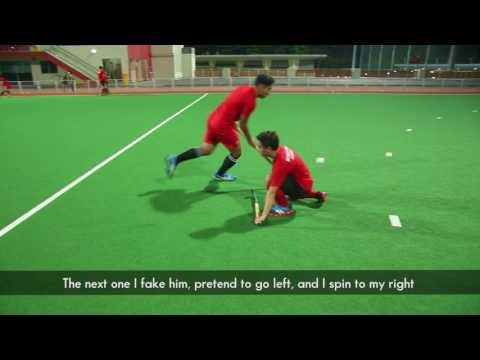 Hockey trick shots with TeamSG Hockey Players Enrico Marican and Muhd Jumaeen
