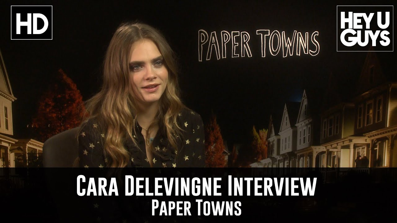 delevingne exclusive interview paper towns youtube