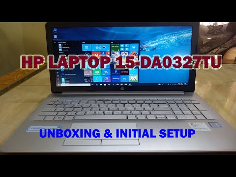 HP Laptop 15-DA0327TU With Windows 10 & MS Office 2019 - Unboxing And Initial Setup