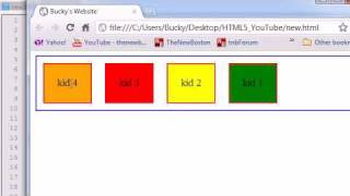 HTML5 Tutorial - 17 - Reversing the Box Order