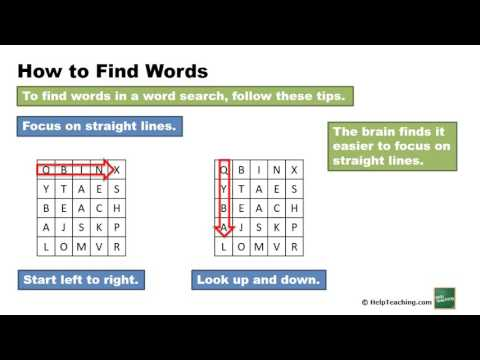 Vocabulary Lesson: Word Search Tips