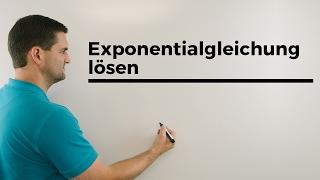 Gleichung lösen mit e^x ohne Taschenechner | Mathe by Daniel Jung