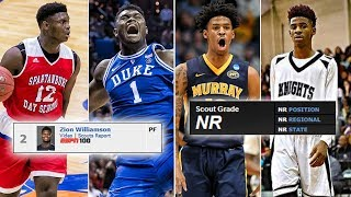 How Good Were The Top Prospect From The 2019 NBA Draft In High School?