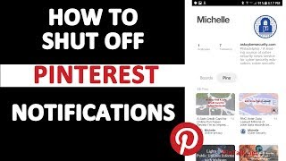 How to STOP Pinterest Notifications