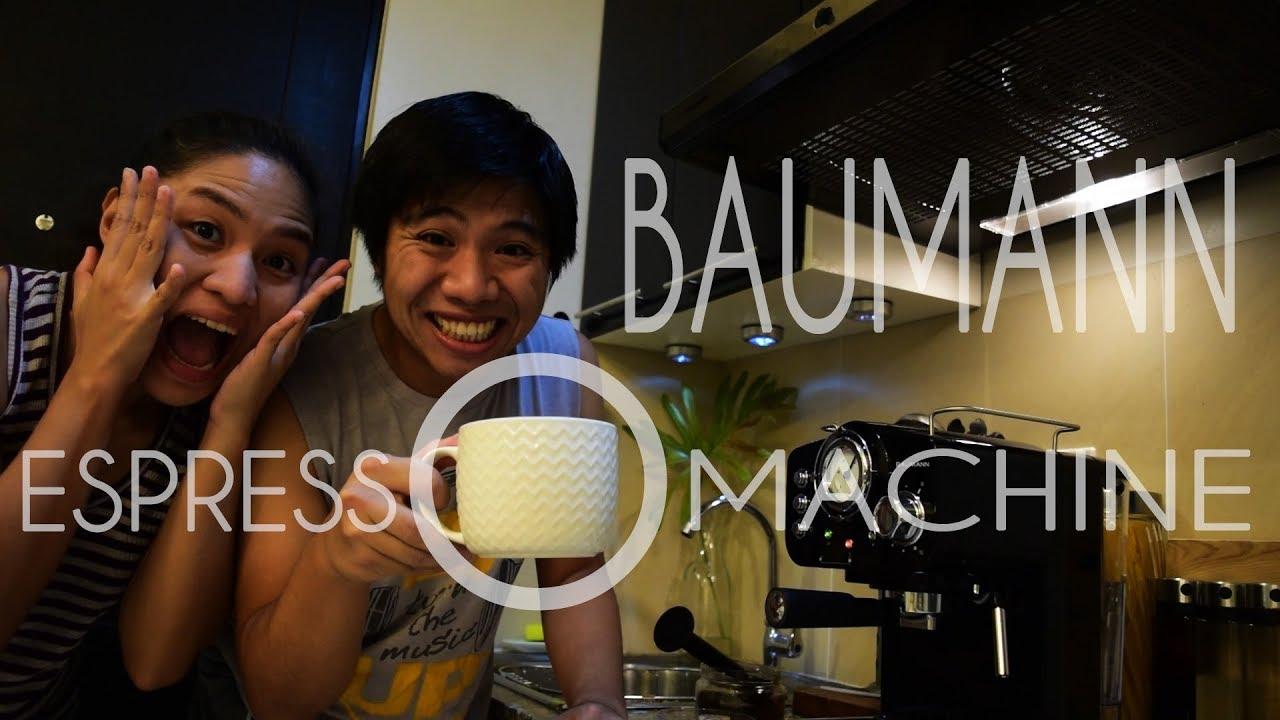 TRYING OUR VERY FIRST ESPRESSO MACHINE | Baumann Retro ...