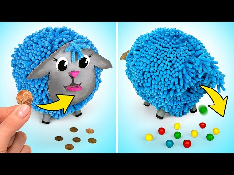 How To Make Funny Sheep Money Bank With Gumball Vending Machine 💰🐑🍬
