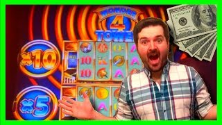 BIG WIN! I MADE IT TO THE TOP! NOW THIS IS WHERE IT GETS ZESTY! Wonder 4 Tower Slot MachineBonus