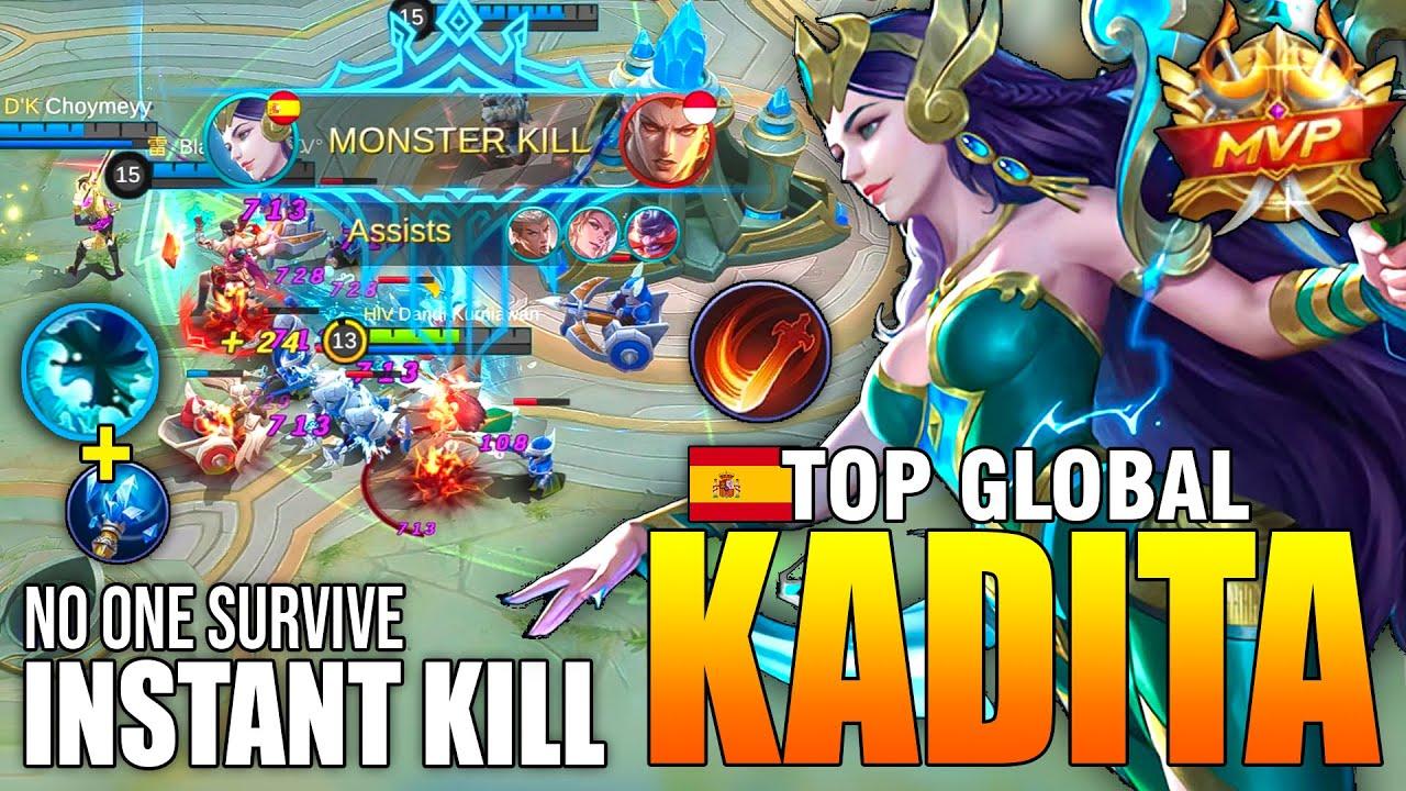 THE WATERBENDING MASTER KADITA GAMEPLAY - TOP GLOBAL KADITA Dandi Kurniawan - MOBILE LEGENDS